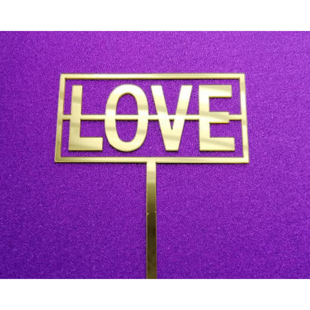 Love vierkant goud