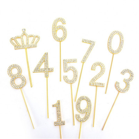 Cijfers goud strass