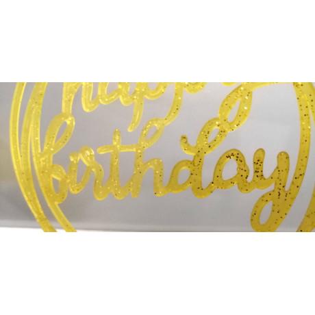 Happy birthday Cirkels Goud glitter