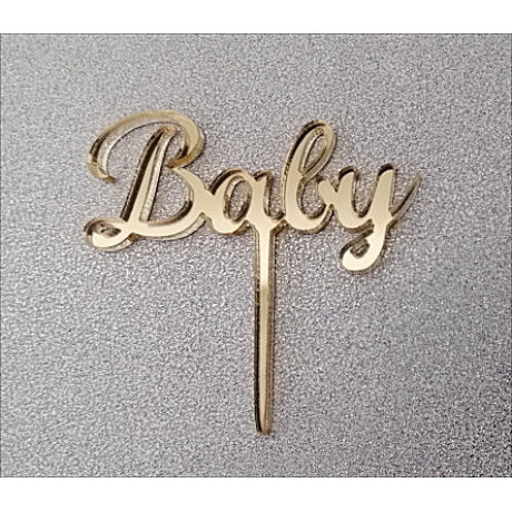 """6 Cupcake toppers """"Baby"""""""
