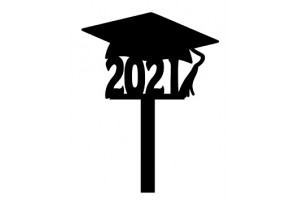 """6 Cupcake toppers """"Geslaagd 2021"""""""