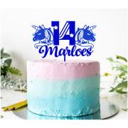Eigen naam ontwerp taarttopper L 14 cm