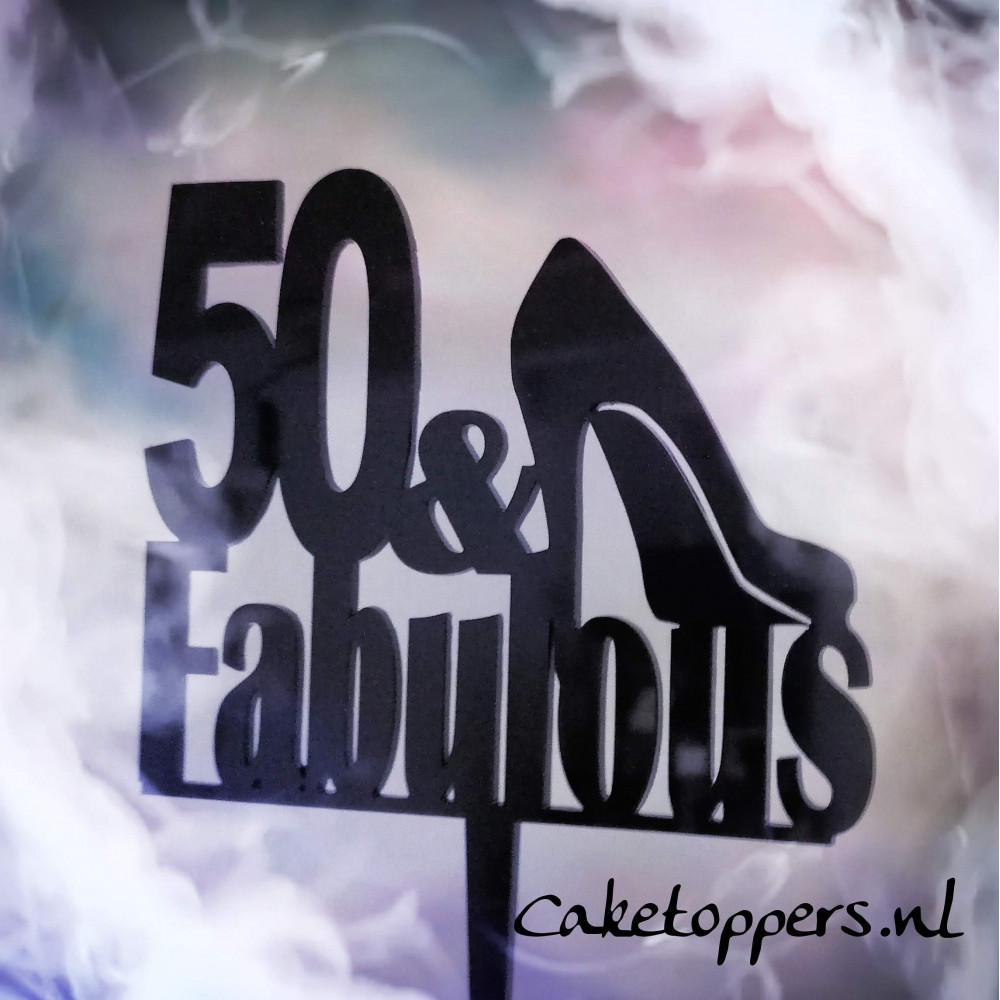 50 and Fabulous taart topper